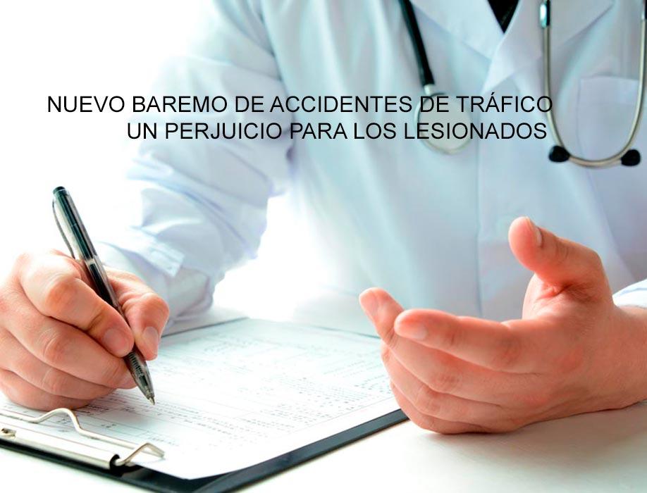 nuevo baremo de accidentes de trafico
