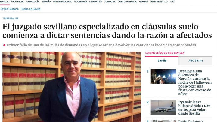 Sentencia favorable estimando demanda de nulidad de cláusulas suelo