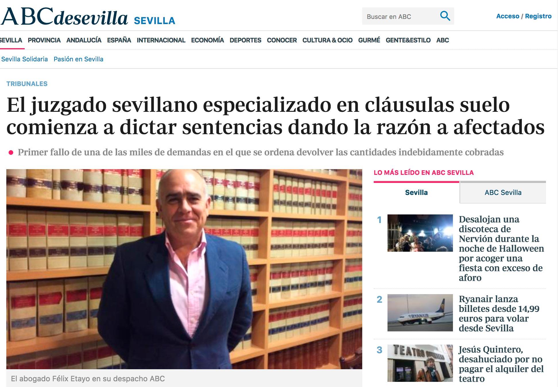 Felix etayo abogados sevilla for Abogados clausula suelo sevilla